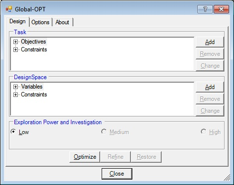Global-OPT Dialog graphic